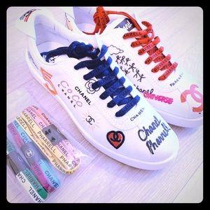 NIB *LMTDEDTN* Chanel x Pharrell Graffiti Sneakers